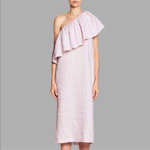 Mara Hoffman One Shoulder Midi Dress in Lavender
